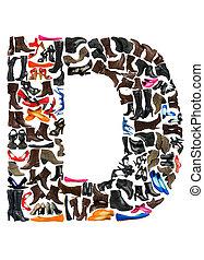 gjord, skor, -, hundreds, brev, dopfunt, d