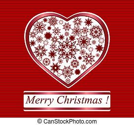 gjord, snöflingor, illustration, vektor, bakgrund, randig, herat, jul