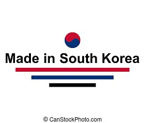 gjord, syd, försegla, korea, kvalitet