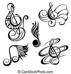 gk98.eps - Music notes. Vector illustration.