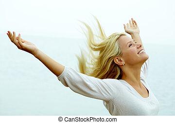 glädje, och, frihet