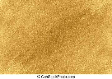 glänsande, florett, blad, gul, guld