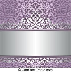 glänsande, violett, bakgrund, &, silver
