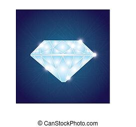glänzend, diamant, eps10