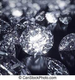 glänzend, diamanten, hintergrund