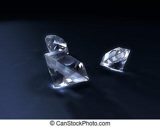 glänzend, diamanten