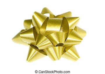 glänzend, goldenes, schleife