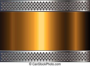 glänzend, hintergrund, metallisch