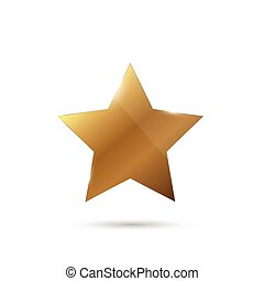glänzend, stern, gold, abbildung