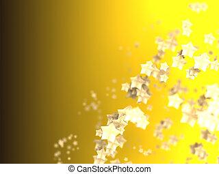 glänzend, sternen, partikeln, auf, glatt, hintergrund