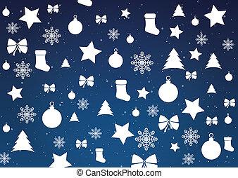 glædelig jul, baggrund, vektor