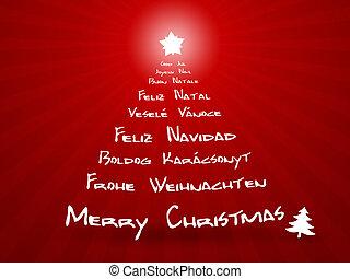 glædelig jul, ind, forskellige, sprog