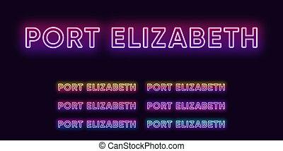 glödande, elizabeth, hamn, city., vektor, rubriken, stad, ...