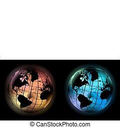 glödande, glober
