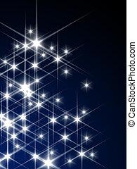 glödande, stjärnor