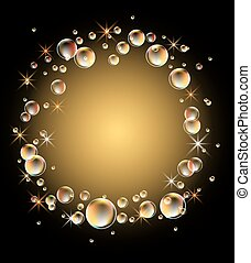 glødende, baggrund, bobler