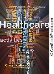 glødende, begreb, baggrund, healthcare