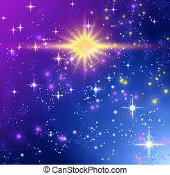 glødende, stjerner