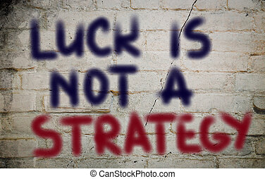glück, gleichfalls, not, a, strategie, begriff