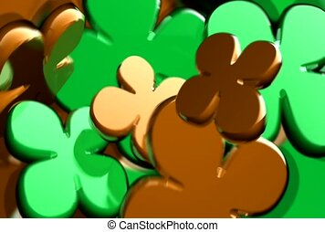 glück, grün, kleeblat