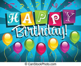 glücklich, birthday!