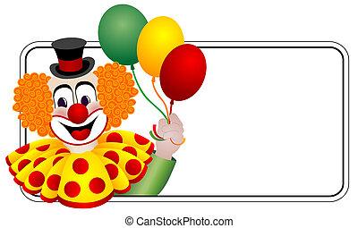 glücklich, clown