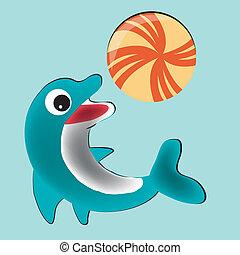 glücklich, delfin