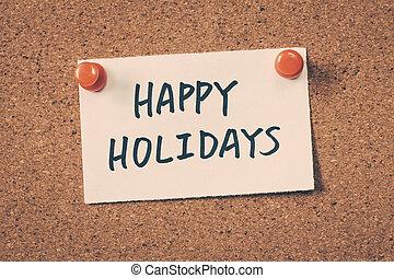 glücklich, feiertage