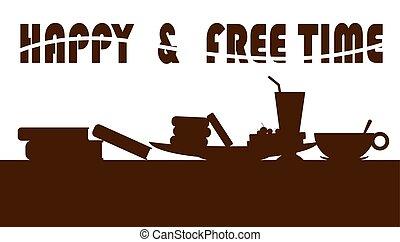 glücklich, freie zeit