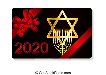glücklich, illustration., hanukkah, hanukkah, jüdisch,...