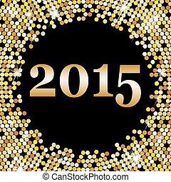 glücklich, jahr, neu , 2015