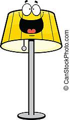 glücklich, karikatur, lampe