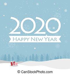 glücklich, karte, neu , 2020, jahr