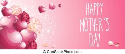 glücklich, mütter tag, banner