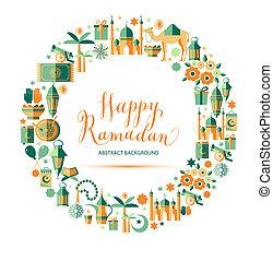glücklich, satz, ramadan, heiligenbilder