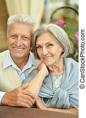 glücklich, schöne , älter