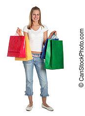 glücklich, shoppen