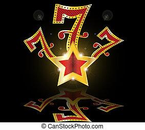 glücklich sieben, 777, jackpot