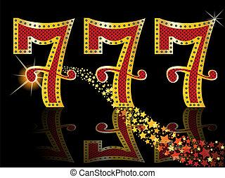 glücklich sieben, automat, jackpot