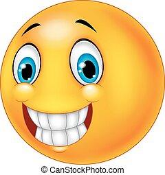glücklich, smiley gesicht