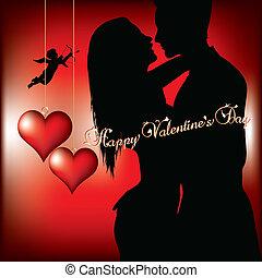 glücklich, tag, valentines