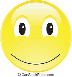 glücklich, taste, smiley gesicht