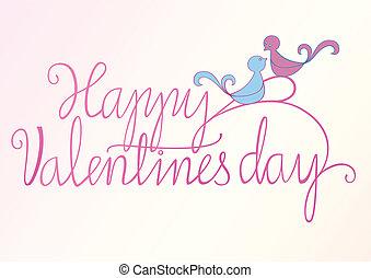 glücklich, vögel, valentine