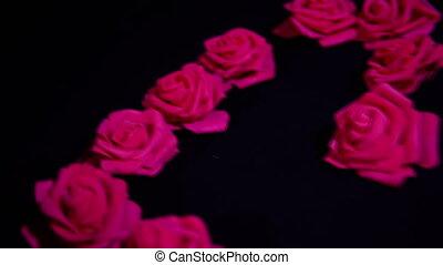 glücklich, valentine, tag, mit, filmmeter, rosen