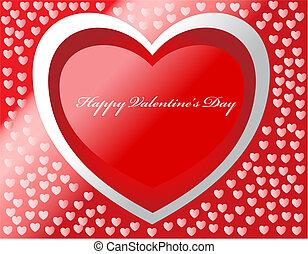 glücklich, valentine\'s, tag, vektor, karte, mit, herzen, und, effects.