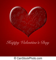 glücklich, valentinestag, musik, lieder, von, der, rotes herz