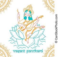 glücklich, vasant, panchami