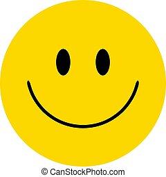 glücklich, vektor, smiley., gesicht