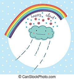 glücklich, wolke