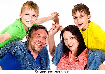glückliche familie, boden